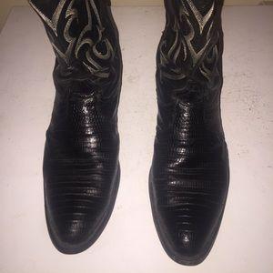 Tony Lama Tegu Lizard Cowboy Boots